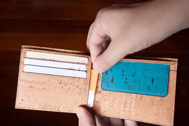 カードの収納も充実 RFIDブロック(スキミング防止)機能付き